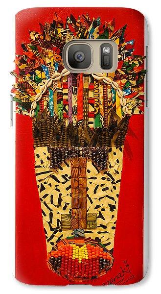 Galaxy Case featuring the tapestry - textile Shaka Zulu by Apanaki Temitayo M