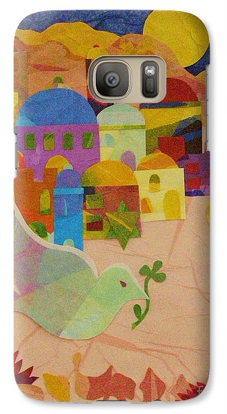 Galaxy Case featuring the mixed media Shalom  by Diane Miller