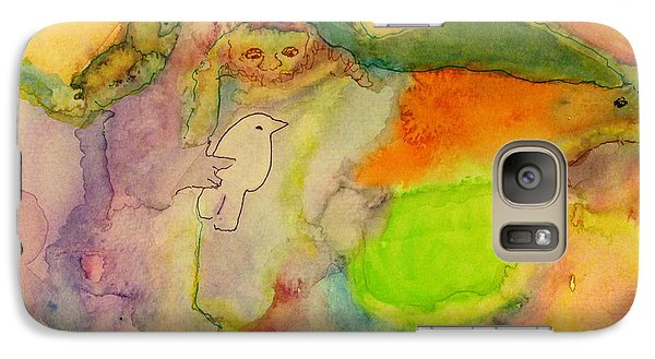 Galaxy Case featuring the painting Shaman And Spirit Animals by  Heidi Scott