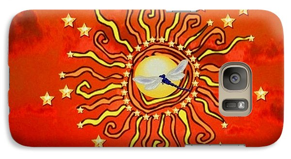 Galaxy Case featuring the digital art Shaman Sun by Mary Anne Ritchie