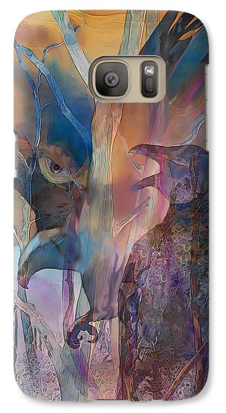 Galaxy Case featuring the digital art Shaman's Friends by Ursula Freer