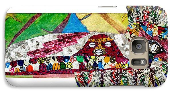 Galaxy Case featuring the tapestry - textile Shango Firebird by Apanaki Temitayo M