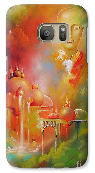 Galaxy Case featuring the painting Shangrila by Alexa Szlavics