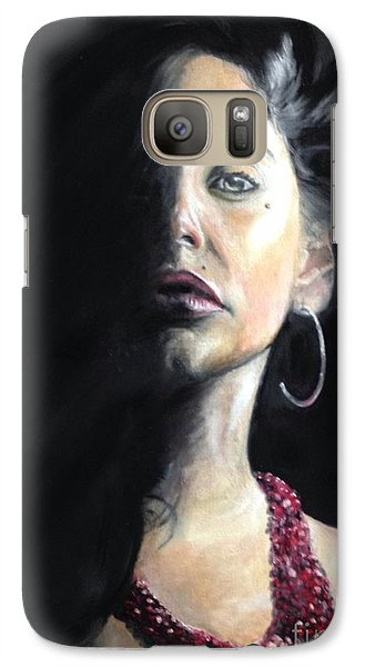 Galaxy Case featuring the painting Shani by Stan Tenney
