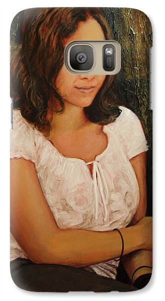 Galaxy Case featuring the painting Shannon by Ron Richard Baviello