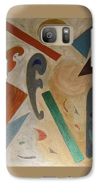 Galaxy Case featuring the painting Shapes by Barbara Yearty