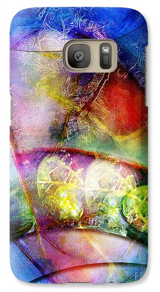 Galaxy Case featuring the painting Shapes In Color by Allison Ashton