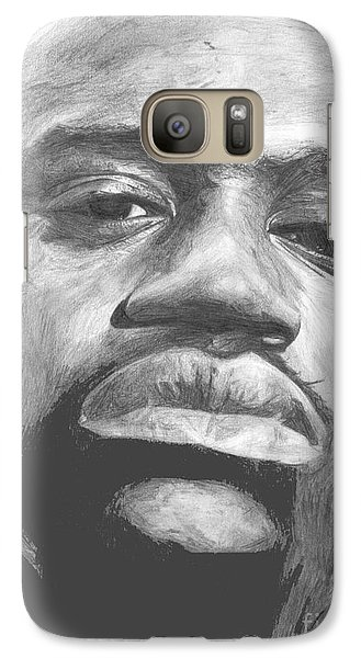 Galaxy Case featuring the drawing Shaq by Tamir Barkan