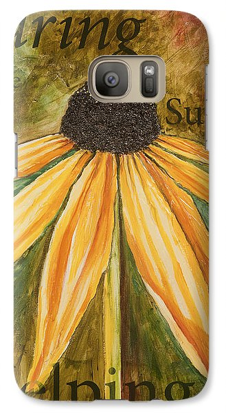 Galaxy Case featuring the painting Sharing by Lisa Fiedler Jaworski