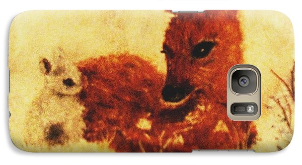 Galaxy Case featuring the painting Sharing Secrets by Hazel Holland