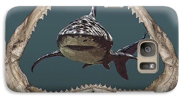Galaxy Case featuring the digital art Shark by Angel Jesus De la Fuente