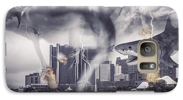 Galaxy Case featuring the photograph Sharknado Detroit by Nicholas  Grunas