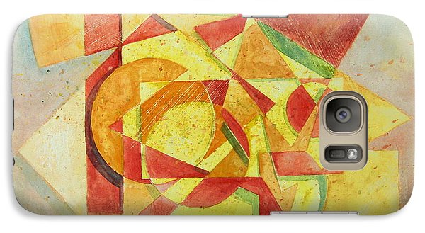 Galaxy Case featuring the painting Sharp Edges by Andrew Gillette