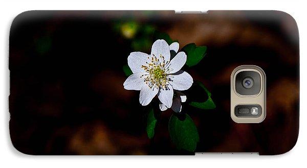 Galaxy Case featuring the photograph Sharp-lobe Hapatica - Glspla684 by G L Sarti