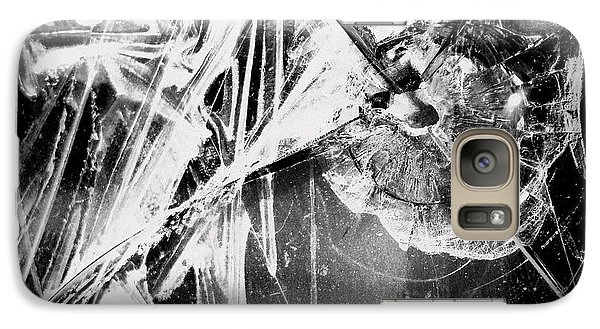 Galaxy Case featuring the photograph Shatter - Black And White by Joseph Skompski