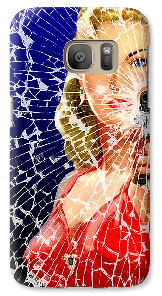 Galaxy Case featuring the digital art Shattered by Sasha Keen