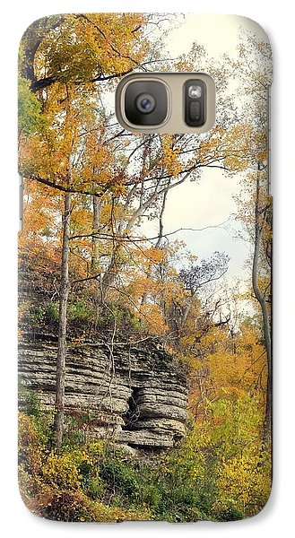 Galaxy Case featuring the photograph Shawee Bluff In Fall by Marty Koch