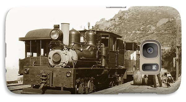 Galaxy Case featuring the photograph Shay No. 498 At The Summit Of Mt. Tamalpais Marin Co California Circa 1902 by California Views Mr Pat Hathaway Archives