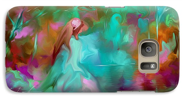 Galaxy Case featuring the painting She Finds Her Peace by Steven Lebron Langston