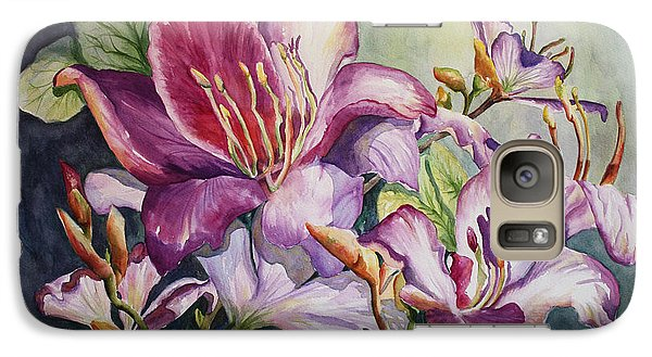 Galaxy Case featuring the painting She Love Radiant Orchids by Roxanne Tobaison