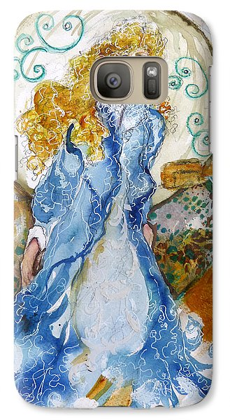 Galaxy Case featuring the mixed media She  Loves The Sea by P Maure Bausch