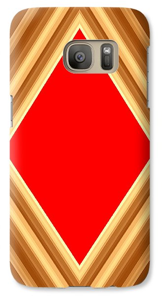 Galaxy Case featuring the digital art She Said Love Was Red  by Cletis Stump