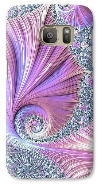 Galaxy Case featuring the digital art She Shell by Susan Maxwell Schmidt
