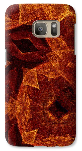 Galaxy Case featuring the digital art She Sits Waiting by Owlspook