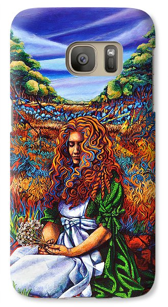 Galaxy Case featuring the painting She Was... by Greg Skrtic