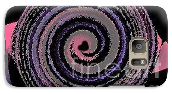 Galaxy Case featuring the digital art She Wirls by Catherine Lott