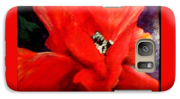 Galaxy Case featuring the painting She Wore Red Ruffles by Gail Kirtz