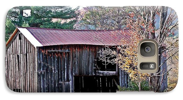 Galaxy Case featuring the photograph Shed In Autumn by Christian Mattison