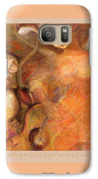 Galaxy Case featuring the pastel Shedding A Little Light On The Situation 1 by Brooks Garten Hauschild