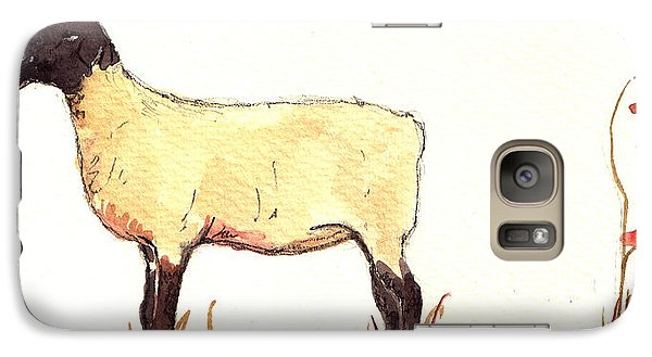 Sheep Black White Galaxy S7 Case