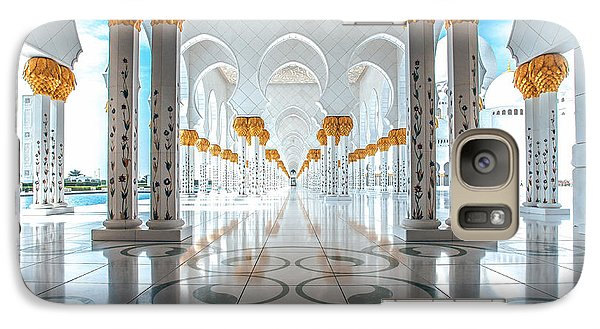 Galaxy Case featuring the photograph Sheikh Zayed Grand Mosque by Robert  Aycock