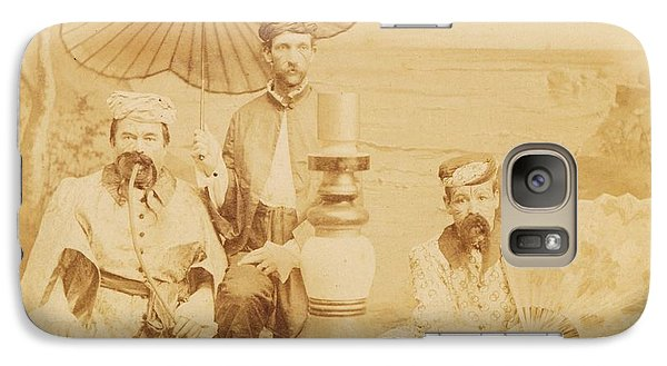Galaxy Case featuring the photograph Sheiks by Paul Ashby Antique Image