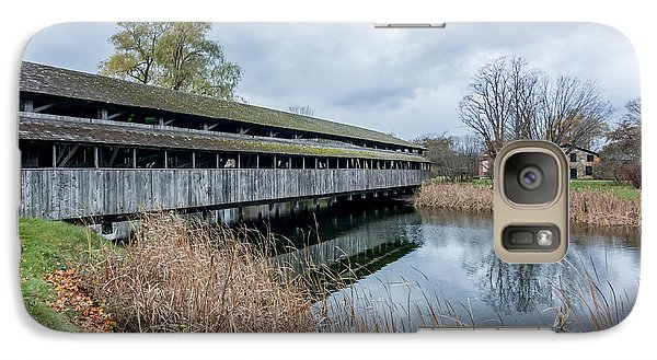Galaxy Case featuring the photograph Shelburne Covered Bridge by Jeremy Farnsworth