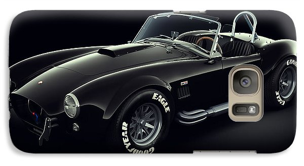 Galaxy Case featuring the digital art Shelby Cobra 427 - Ghost by Marc Orphanos