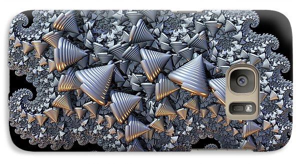 Galaxy Case featuring the digital art Shell Amoeba by Manny Lorenzo