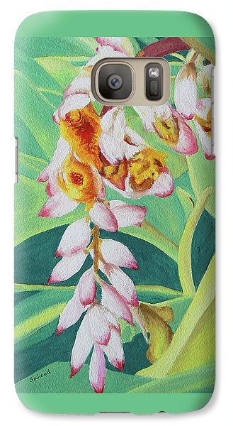 Galaxy Case featuring the painting Shell Ginger by Margaret Saheed