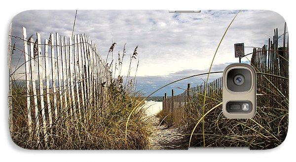 Galaxy Case featuring the photograph Shell Island Beach Access by Phil Mancuso