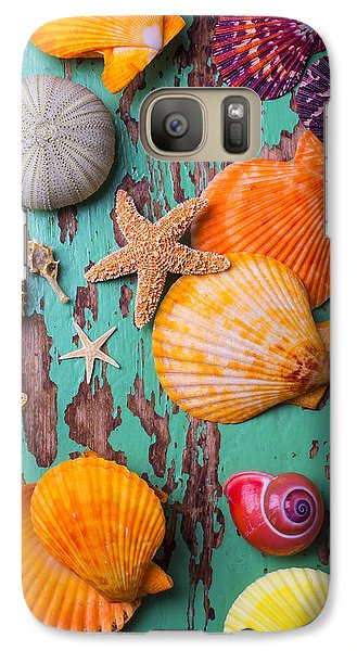 Shells On Old Green Board Galaxy S7 Case