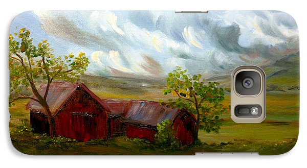 Galaxy Case featuring the painting Shelter From The Storm by Meaghan Troup