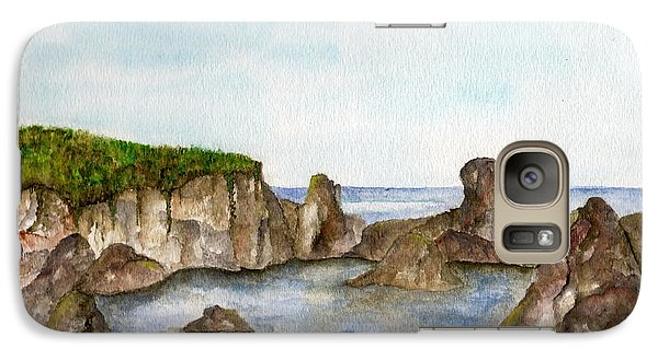 Galaxy Case featuring the painting Sheltered Cove by Tamyra Crossley