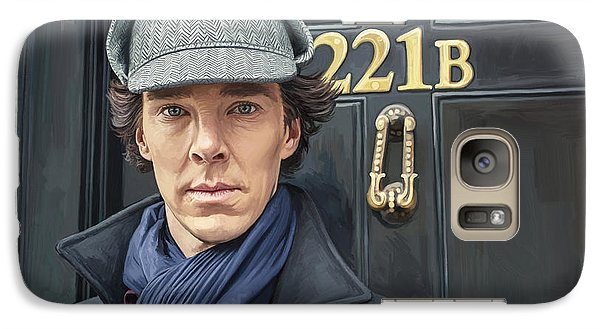 Galaxy Case featuring the painting Sherlock Holmes Artwork by Sheraz A
