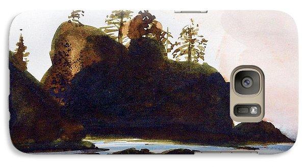 Galaxy Case featuring the painting Shi-shi Beach by Ed  Heaton