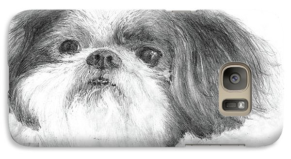 Galaxy Case featuring the drawing Shih-tzu by Jim Hubbard