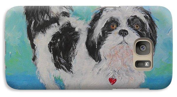 Galaxy Case featuring the painting Shih Tzu Yoda by Doris Blessington