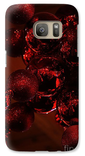 Galaxy Case featuring the photograph Shimmer In Red by Linda Shafer