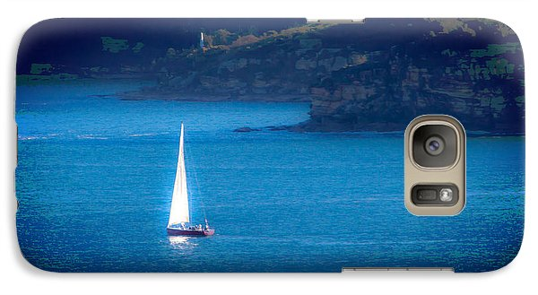 Galaxy Case featuring the photograph Shimmer Of The White Sail by Miroslava Jurcik